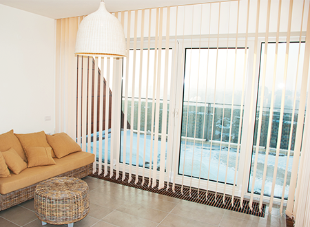 Residential Interior With Vertical Blinds